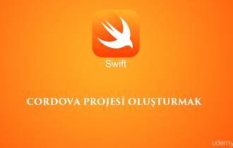 iOS cihazlar için cordova uygulaması oluşturma.